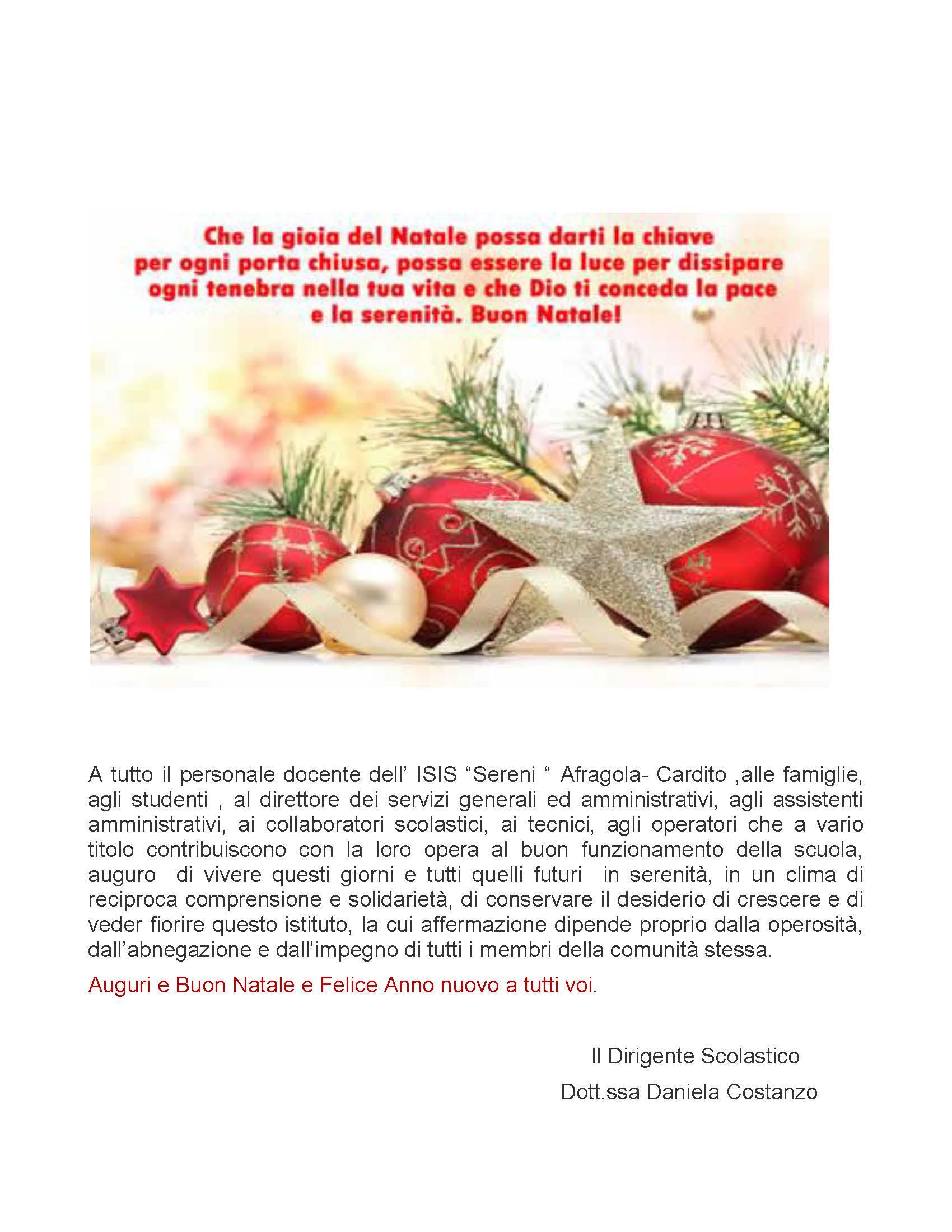 Auguri di natale 2019 dirigente scolastico for Daniela costanzo